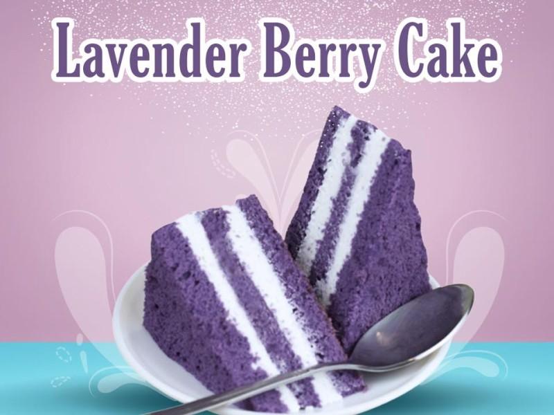 Lavender Berry Cake Image
