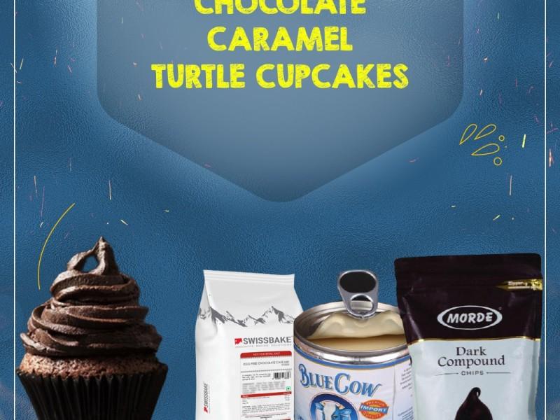 HOCOLATE CARAMEL TURTLE CUPCAKES Image