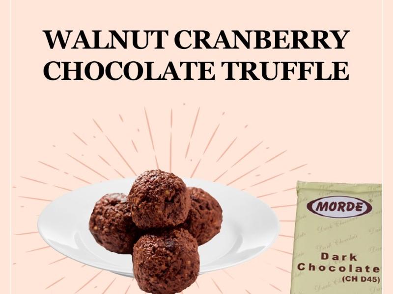 WALNUT CRANBERRY CHOCOLATE TRUFFLE Image
