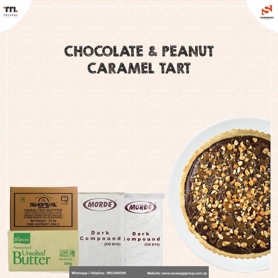 CHOCOLATE & PEANUT CARAMEL TART Image