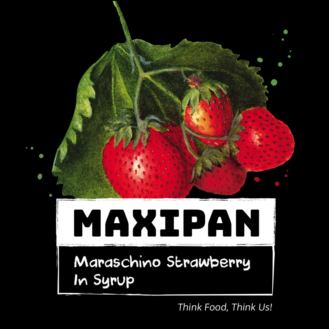 Maxipan Canned Maraschino Strawberry Image