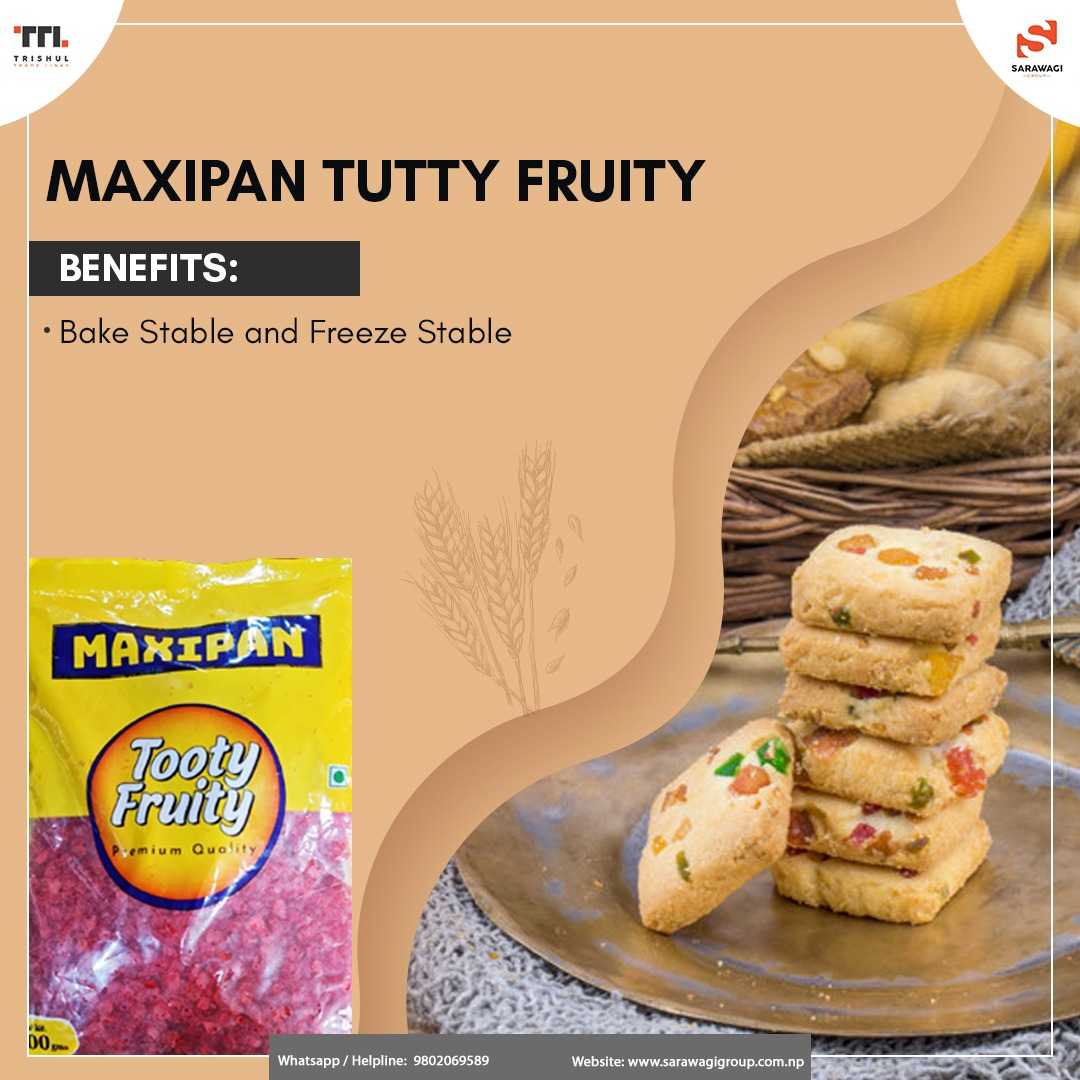 MAXIPAN TUTTY FRUITY GREEN/RED-PREMIUM BAKE STABLE GRADE Image