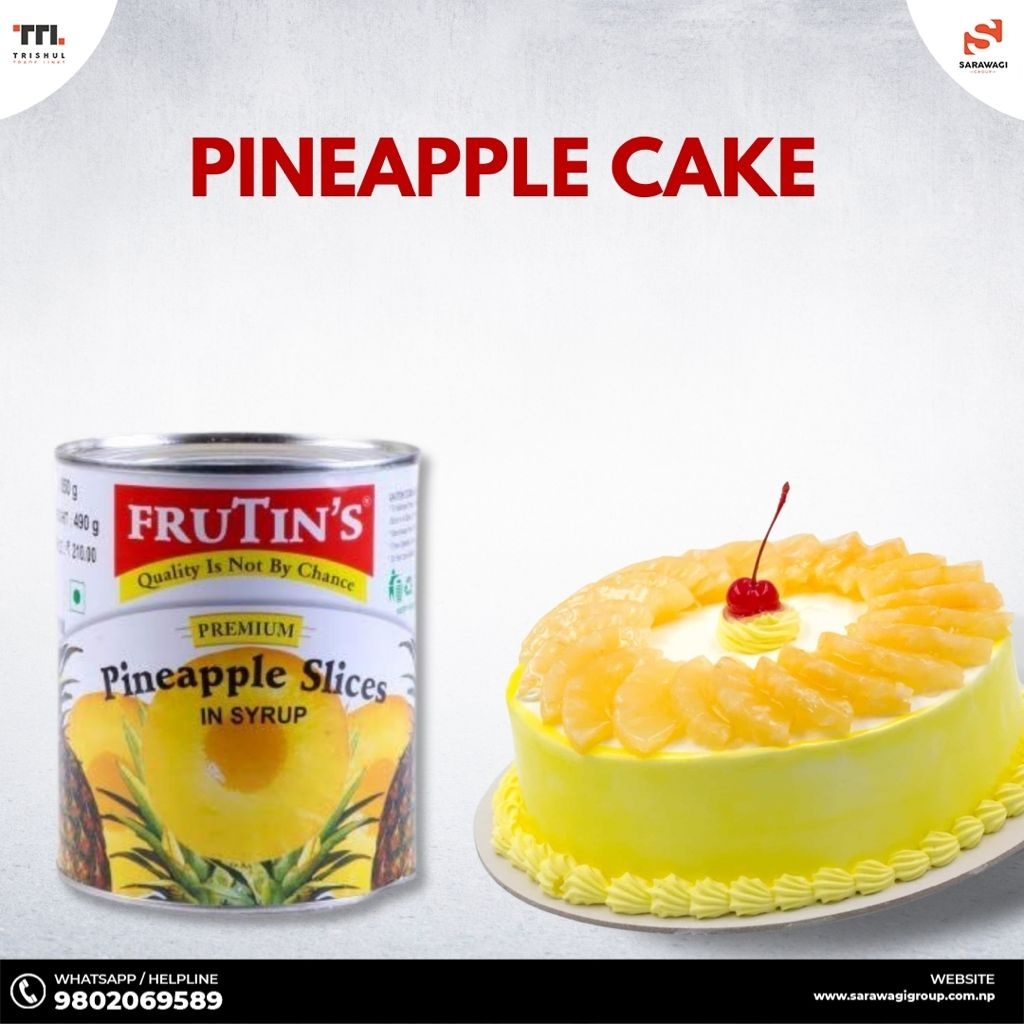 Pineapple Cake with Red Cherry Image