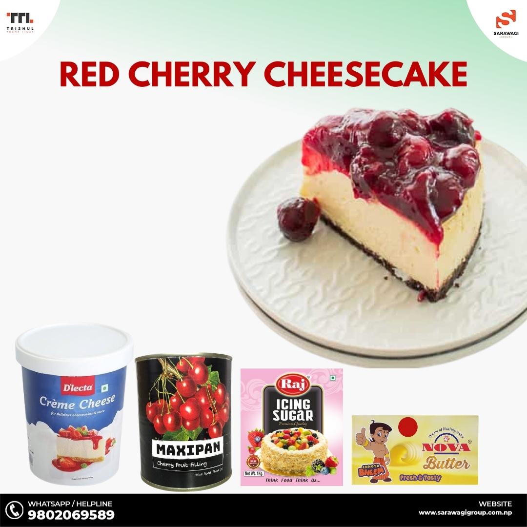 Red Cherry Cheesecake Image