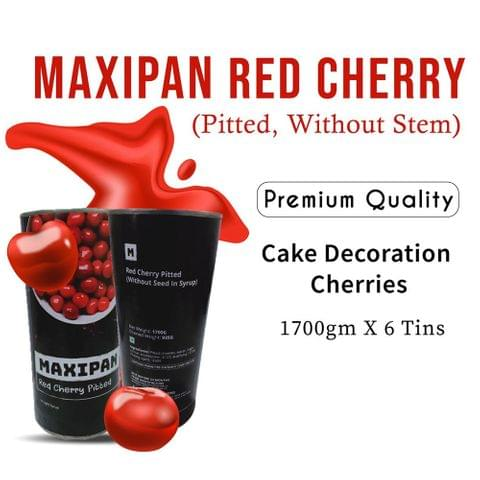 Maxipan Red Cherry Without Stem Without Seed (Pitted) – Premium Image